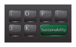 Gräsplan för grå färger för tangentbord för hållbarhetbegreppsdator stock illustrationer