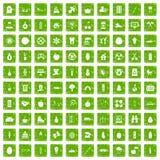gräsplan för grunge för 100 barns hälsasymboler fastställd Royaltyfri Bild