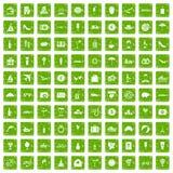 gräsplan för grunge för 100 bröllopsresasymboler fastställd stock illustrationer