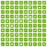 gräsplan för grunge för 100 dialogsymboler fastställd vektor illustrationer