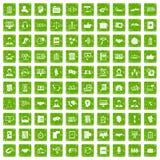 gräsplan för grunge för 100 diskussionssymboler fastställd stock illustrationer