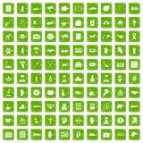 gräsplan för grunge för 100 donationsymboler fastställd vektor illustrationer