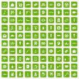 gräsplan för grunge för 100 ekonomisymboler fastställd Arkivbild