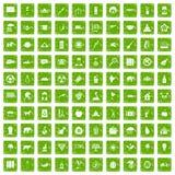 gräsplan för grunge för 100 elefantsymboler fastställd Arkivfoton