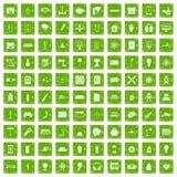 gräsplan för grunge för 100 energisymboler fastställd Royaltyfri Foto