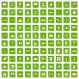 gräsplan för grunge för 100 Europa landssymboler fastställd Fotografering för Bildbyråer
