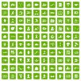 gräsplan för grunge för 100 försäkringsymboler fastställd Arkivfoto