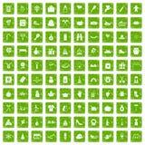 gräsplan för grunge för 100 familjtraditionssymboler fastställd Royaltyfri Foto