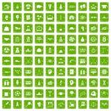gräsplan för grunge för 100 framgångsymboler fastställd Arkivfoto