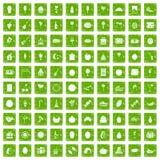 gräsplan för grunge för 100 fruktpartisymboler fastställd Arkivfoto