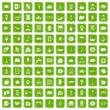 gräsplan för grunge för 100 gästgivargårdsymboler fastställd Arkivfoto