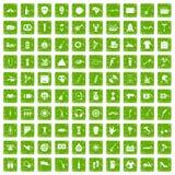 gräsplan för grunge för 100 gatafestivalsymboler fastställd Arkivbild
