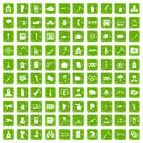 gräsplan för grunge för 100 kränkningsymboler fastställd Royaltyfri Fotografi