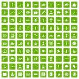 gräsplan för grunge för 100 krigsbrottsymboler fastställd Royaltyfri Foto