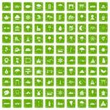 gräsplan för grunge för 100 landskapsymboler fastställd Royaltyfri Foto