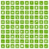 gräsplan för grunge för 100 maskinvarusymboler fastställd stock illustrationer