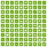 gräsplan för grunge för 100 militära journalistsymboler fastställd Arkivfoto