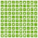 gräsplan för grunge för 100 modesymboler fastställd Fotografering för Bildbyråer