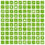 gräsplan för grunge för 100 omsorgsymboler fastställd Arkivfoto