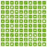 gräsplan för grunge för 100 påbörjandesymboler fastställd Royaltyfri Bild