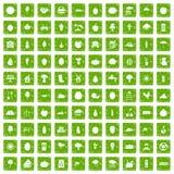 gräsplan för grunge för 100 produktivitetsymboler fastställd Royaltyfri Foto