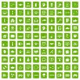 gräsplan för grunge för 100 programmeraresymboler fastställd Arkivfoton