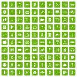 gräsplan för grunge för 100 renoveringsymboler fastställd Arkivfoton
