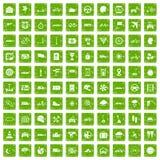 gräsplan för grunge för 100 rittsymboler fastställd Royaltyfria Foton