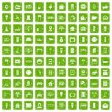 gräsplan för grunge för 100 smarta hussymboler fastställd Arkivfoton