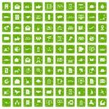 100 gräsplan för grunge för stolpe- och postsymboler fastställda Royaltyfria Foton