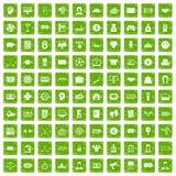 gräsplan för grunge för 100 sweepstakesymboler fastställd Royaltyfri Bild