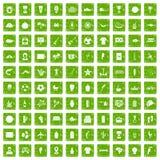 Gräsplan för grunge för 100 Sydamerika symboler fastställd Royaltyfria Foton