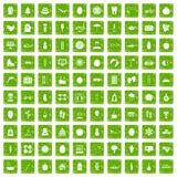 gräsplan för grunge för 100 symboler för kvinnor vård- fastställd Arkivbild