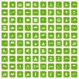 gräsplan för grunge för 100 symboler för seglingskyttel fastställd Royaltyfri Foto