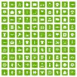 gräsplan för grunge för 100 t-skjorta symboler fastställd Royaltyfri Bild