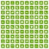 gräsplan för grunge för 100 trasasymboler fastställd Royaltyfria Bilder