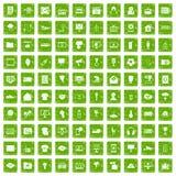 Gräsplan för grunge för 100 TVsymboler fastställd Arkivbilder