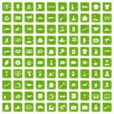 gräsplan för grunge för 100 välgörenhetsymboler fastställd Royaltyfri Bild