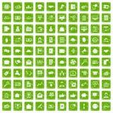 gräsplan för grunge för 100 virus- marknadsföringssymboler fastställd Royaltyfri Foto