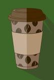 Gräsplan för kaffekopp Arkivbilder