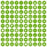 gräsplan för sexhörning för 100 åhöraresymboler Royaltyfria Foton
