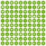 gräsplan för sexhörning för 100 on-line seminariumsymboler Royaltyfri Bild