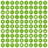 gräsplan för sexhörning för 100 symboler för appellmitt Royaltyfria Foton