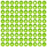 gräsplan för uppsättning för 100 servicesymboler stock illustrationer
