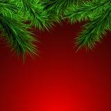 Gräsplan förgrena sig på en röd bakgrund, vektor illustrationer
