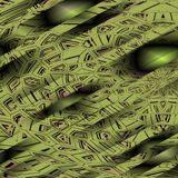Gräsplan gjord randig modell Arkivfoton