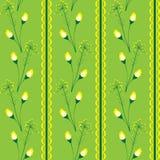 Gräsplan & guling för blomma sömlös Royaltyfri Bild