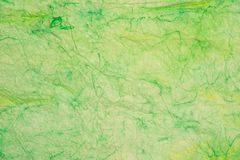Gräsplan knövlad färgad textur för bakgrund för silkespapperpapper Royaltyfri Illustrationer