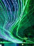 Gräsplan LEDDE ljusgarnering Arkivbilder