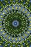 gräsplan med ett blått cirkulär stock illustrationer